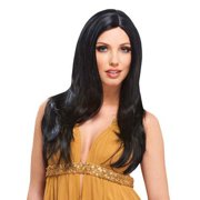 Deluxe Lindsay Lohan Black Long Adult Womens Costume Wig