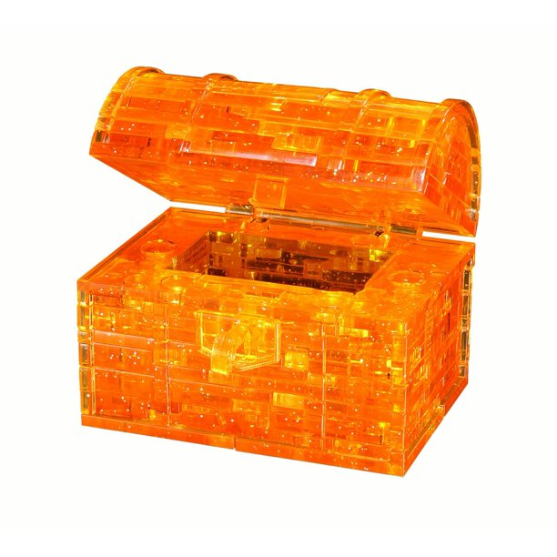 Standard 3D Crystal Puzzle - Treasure Chest (gold)