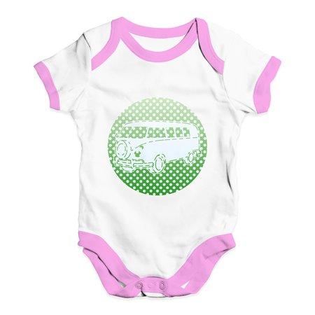 Funny Baby Bodysuits Hippie Van Dots Green Baby Unisex Baby Grow Bodysuit - Hippie Babe