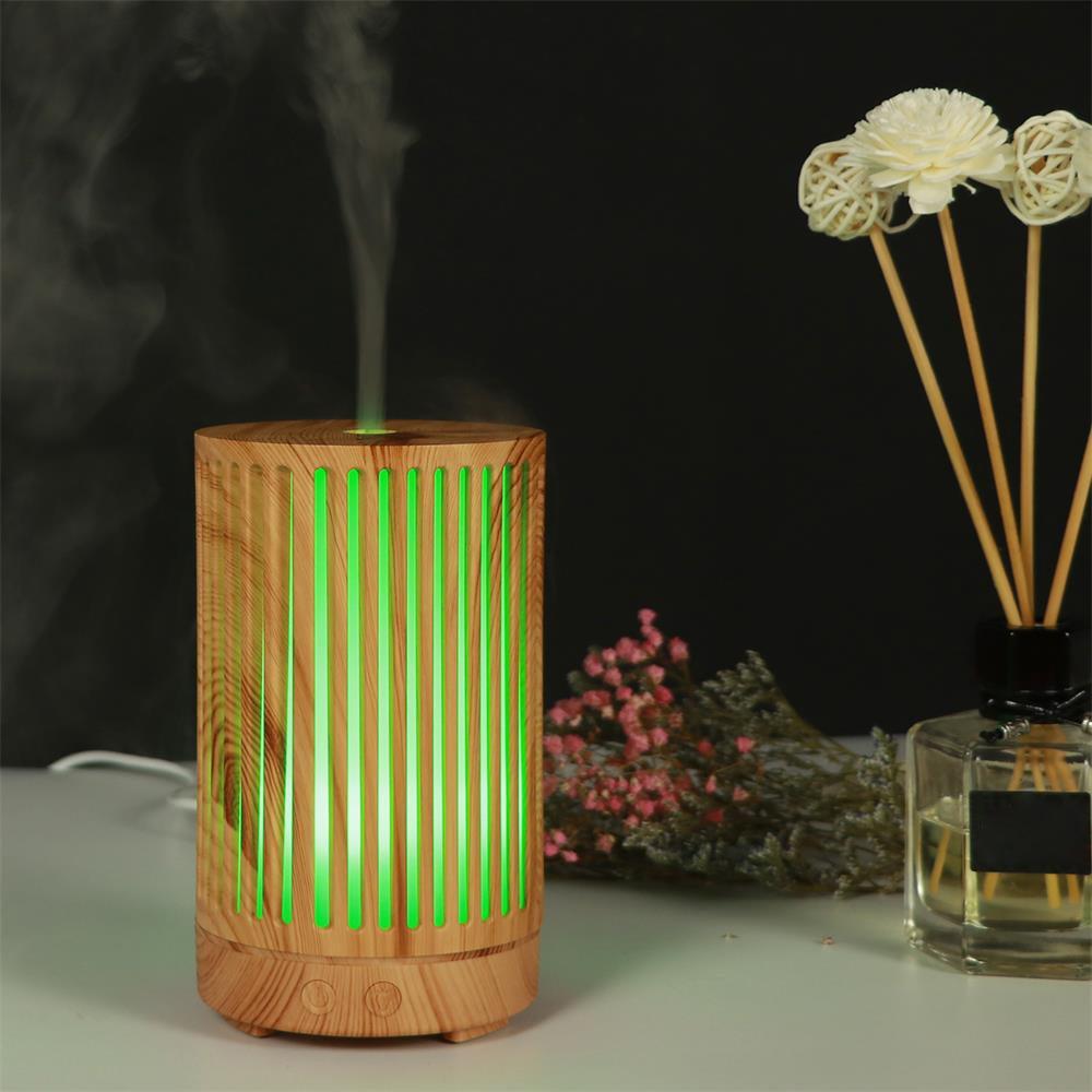 Openwork Wood Grain Aroma Diffuser Household Humidifier