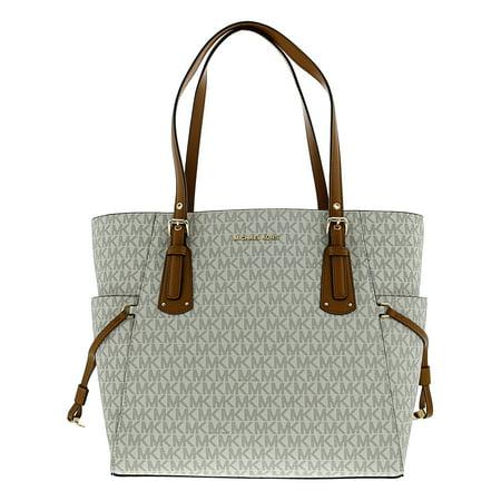 Michael Kors Voyager Logo Bag Leather Top-Handle Tote - Vanilla - Michaels Bags