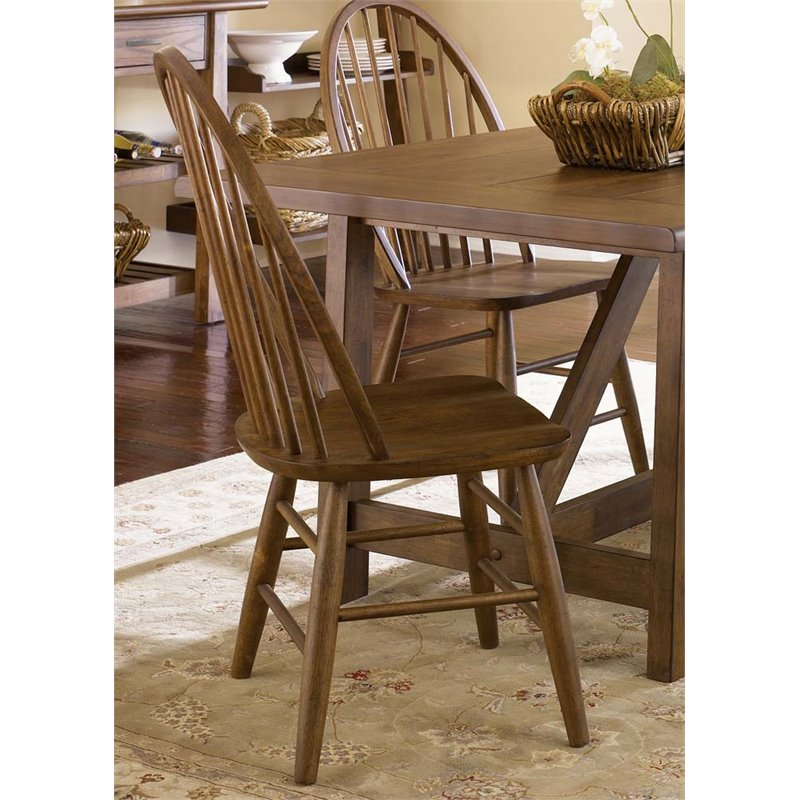 Liberty Furniture Industries Farmhouse Windsor Back Dining Side Chair