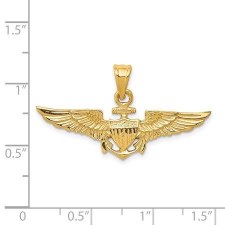 14K Yellow Gold Large US Naval Aviator Badge Pendant - image 1 de 2