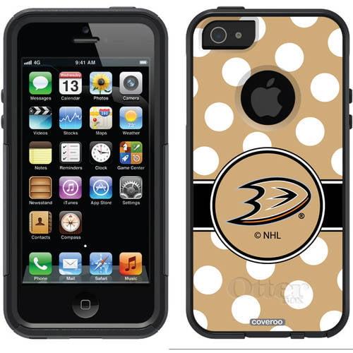 Anaheim Ducks Polka Dots Design on OtterBox Commuter Series Case for Apple iPhone 5/5s