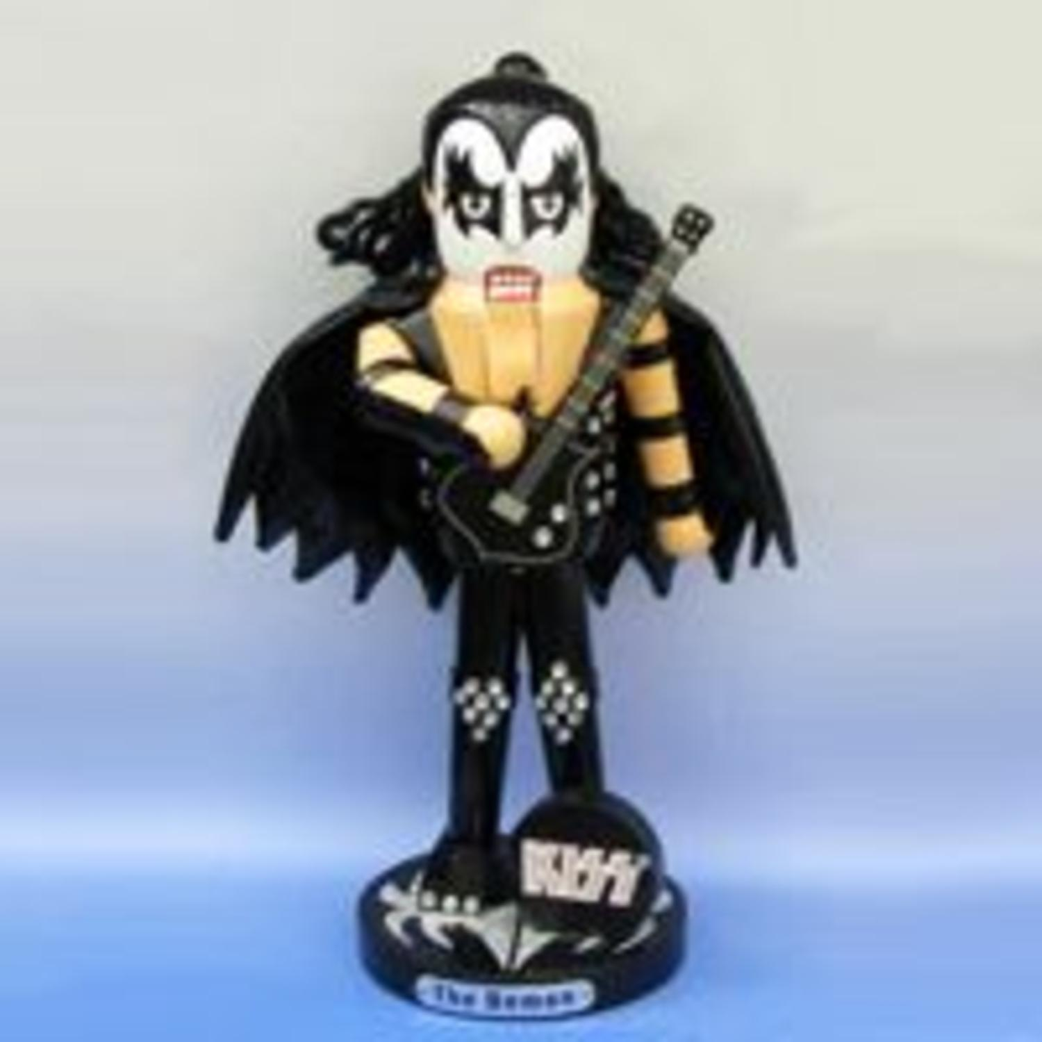 "11"" Kiss Musician ""The Demon"" Gene Simmons Holding A Guitar Christmas Nutcracker"