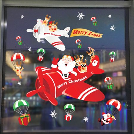 Tailored Christmas Removable Wall Sticker Adornment Wall Glass Window