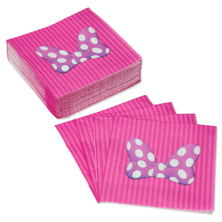 American Greetings Minnie Mouse Lunch Napkins, 50-Count