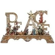 """23"""" Large Embellished Christmas Nativity Scene on Peace Mantle Piece"""