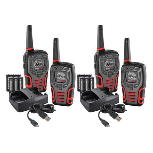 (4) COBRA MicroTalk 28 Mile 22 Channel Walkie Talkie 2-Way Radios w/Vox | CXT545 [Refurbished]