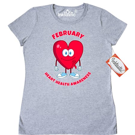 Inktastic February Heart Health Awareness Month Womens T Shirt Disease Walk