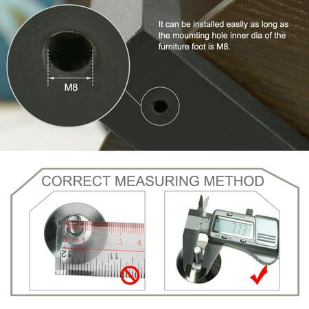 M8 x 15 x 30mm Leveling Feet Adjustable Leveler for Hotel Cabinet Sofa Leg 20pcs - image 1 of 7