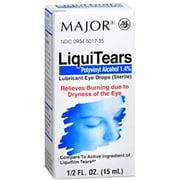 MAJOR LiquiTears Lubricant Eye Drops 0.50 oz (Pack of 3)