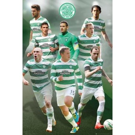 Celtic FC Players Soccer Sports Poster 24x36 inch