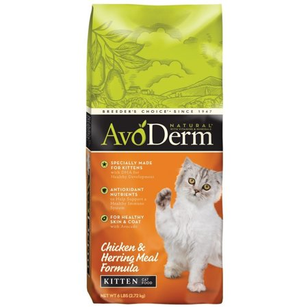 AvoDerm Natural Chicken and Herring Meal Corn Free Formula Kitten Food, 6-Pound