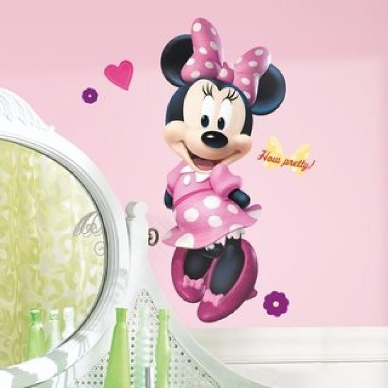Minnie Mouse and Friends Bowtique Disney Mega Decal Pack - Includes 1 Giant Wall Decal (17 Pieces) and 33 Bow-tique Wall Decals