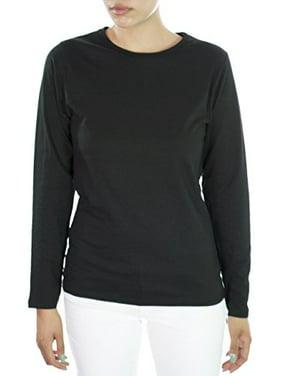 31b3ec7641e Free shipping. Product Image Hey Collection Women's Scrubs Long Sleeve  Cotton Tee 2X Black