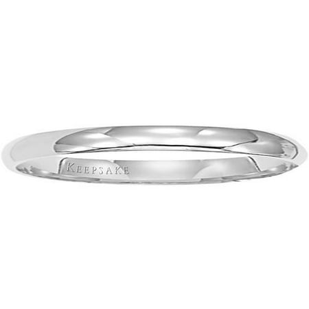 14kt White Gold Wedding Band, 2mm