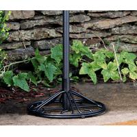 Arlington House Wrought Iron Outdoor Umbrella Base (Charcoal)