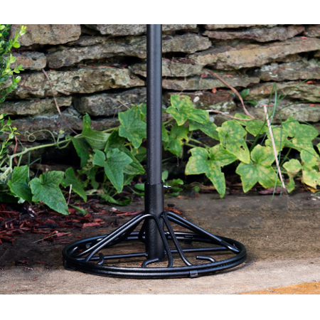 Arlington House Wrought Iron Outdoor Umbrella Base Charcoal