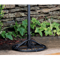 Arlington House Wrought Iron Outdoor Umbrella Base, Charcoal