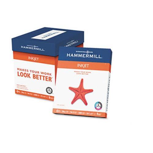Hammermill 105050 Inkjet Paper  96 Brightness  24lb  Letter  500 Sheets