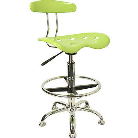 Flash Furniture Adjustable Height Drafting Stool With Tractor Seat  Apple Green