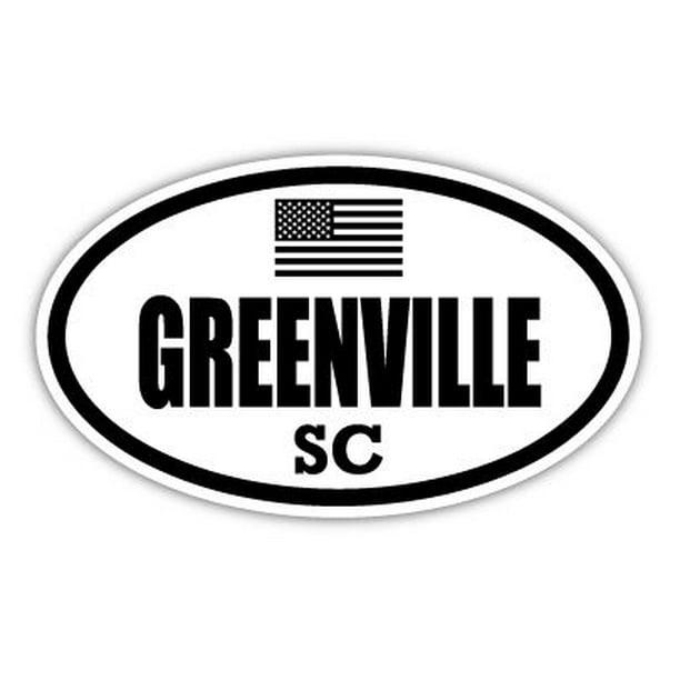 Greenville Sc South Carolina Greenville County Stealthy Subdued Old Glory Us Flag Oval Euro Decal Bumper Sticker 3m Vinyl 3 X 5 Walmart Com Walmart Com