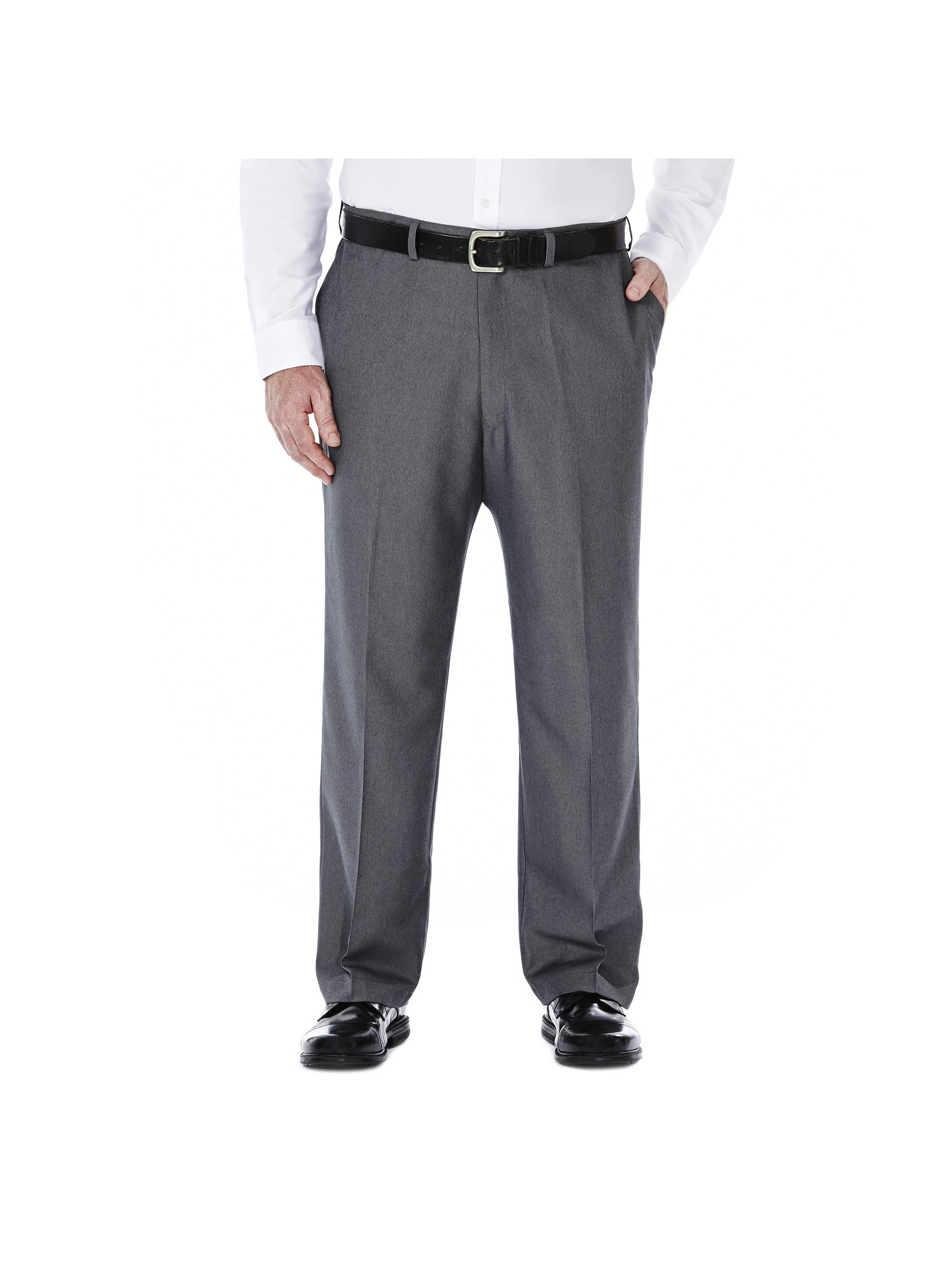 Men's Big & Tall Cool 18® Heather Solid Pant Classic Fit 41714276498
