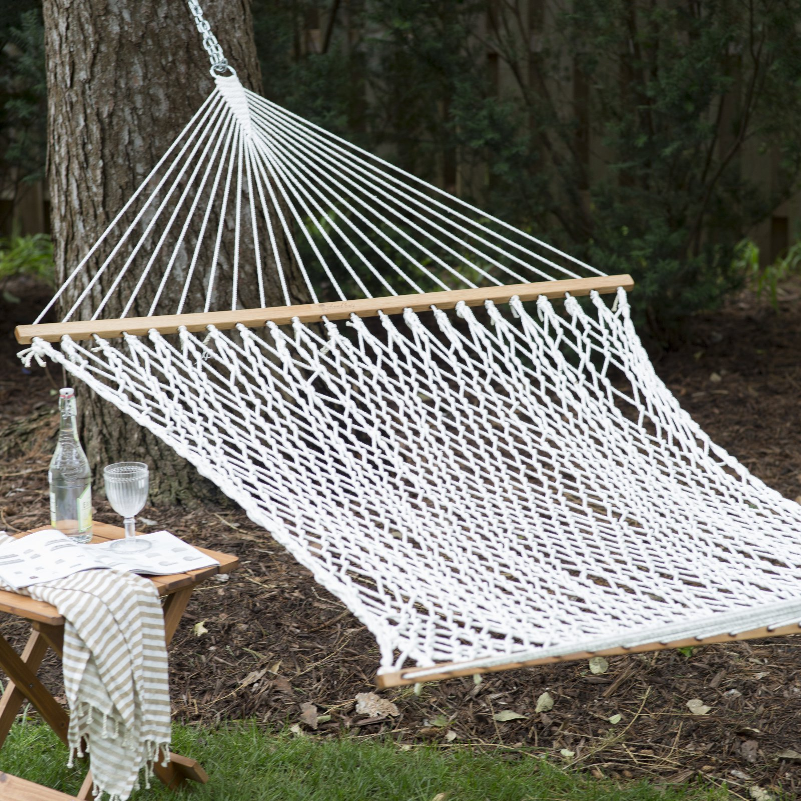 Coral Coast XL Thick Rope Double Hammock with FREE Hanging Hardware by