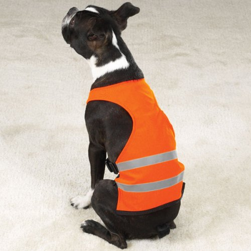 ORANGE - LARGE - Bright Reflective Safety Vests, Water Ch...
