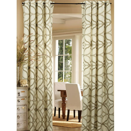 Indoor Transfer Panel - LR Home Harlequin Double Panel Beige 50 in x 84 in Indoor Drapes & Curtains