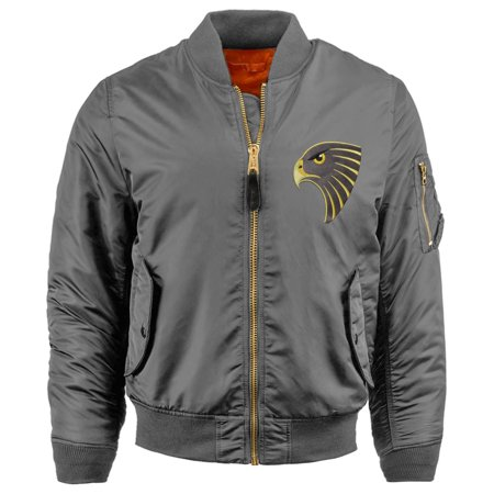 98a07efad Mens PATCH BOMBER JACKET Premium Padded Zip Up Casual MA-1 Flight Souvenir  Outerwear