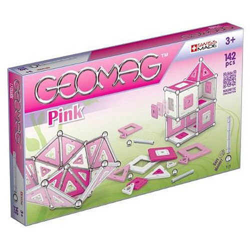 Geomag 142-Piece Construction Set with Assorted Pink Pane...