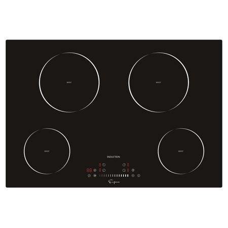 """- Empava 30"""" 4 Booster Burners Tempered Glass Electric Induction Cooktop EMPV-IDC30"""