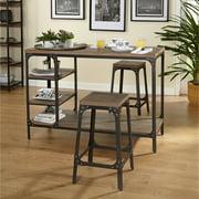 Scholar 3-Piece Vintage Industrial Counter Height Set, Gray