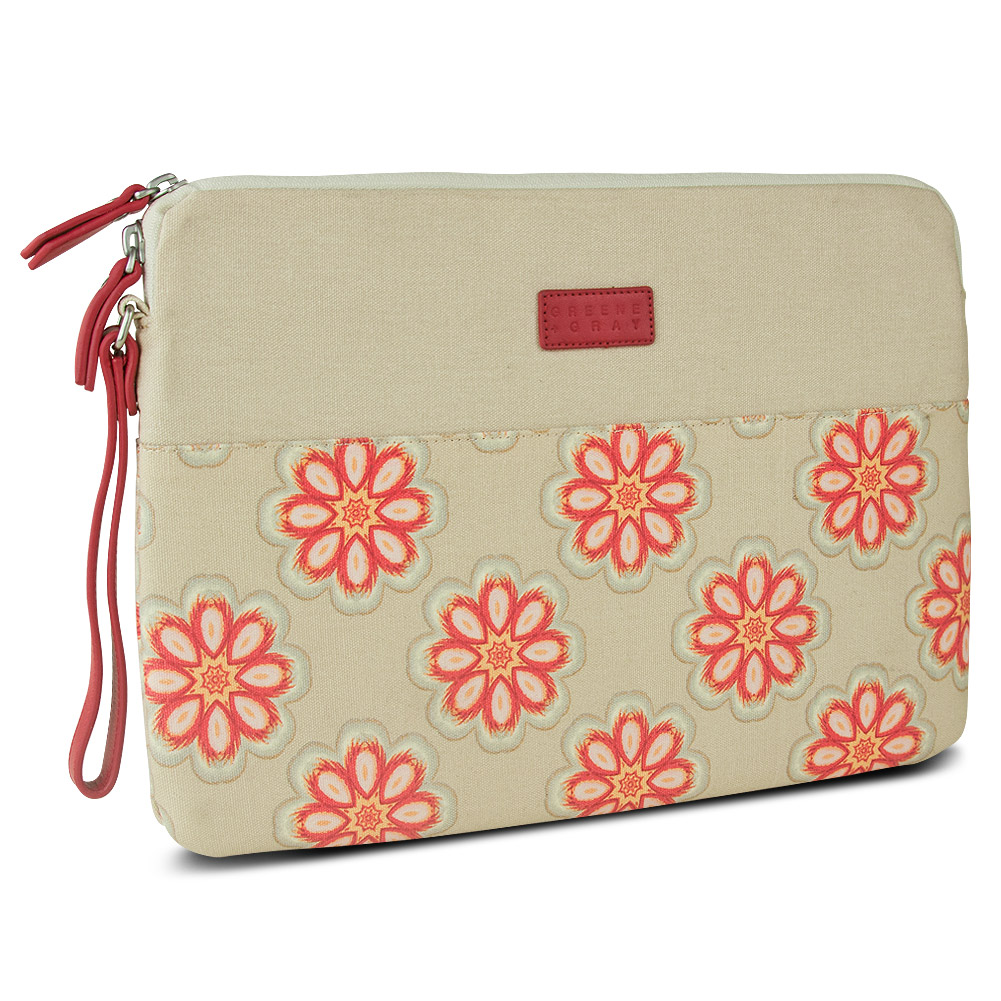 Greene + Gray Zippered Sleeve for Microsoft Surface Pro, Red Floral