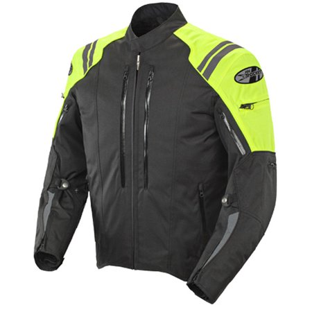Yellow Rocket (Joe Rocket Atomic 4.0 Mens Hi-Visibility Yellow Textile Jacket)