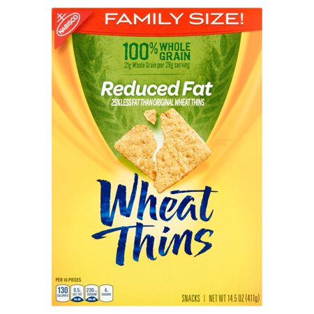 Nabisco Wheat Thins Reduced Fat Family Size Snacks  14 5 Oz