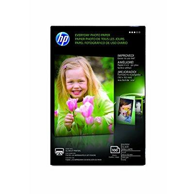 hp cr759a everyday photo paper, glossy (4x6, 100 sht) 4x6 Glossy Photo Paper