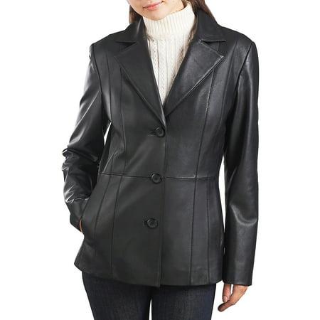 Leather Petite Blazer (Women's