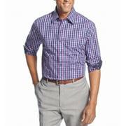Tasso Elba NEW Purple Blue Mens Size Medium 15 1/2 Plaid Dress Shirt $59