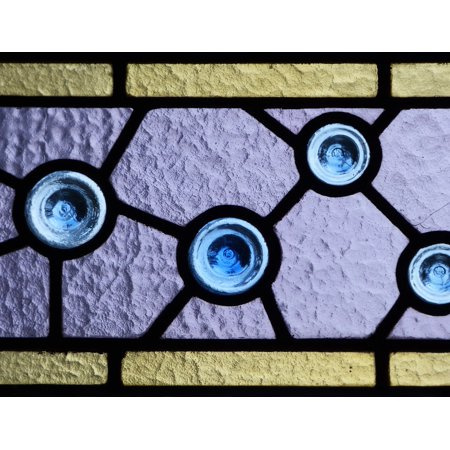 Framed Art for Your Wall Stained Glass Window Catalan Modernism Translucent 10x13 Frame
