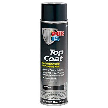 Top Coat, Gloss Black, 14 oz. Spray