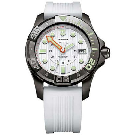 Swiss Army Victorinox Dive Master 500 Large - White Dial & Rubber (Best Swiss Dive Watches)