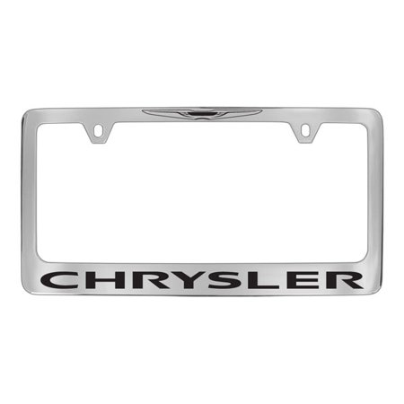 Chrysler Logo Chrome Plated Metal License Plate Frame Holder