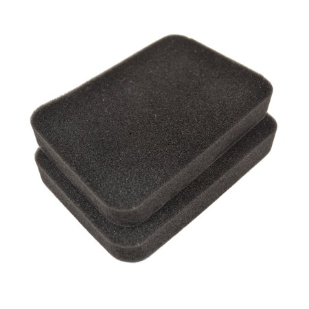 Image of HQRP 2-pack Foam Air Filter for Stens 102-689 / J.Thomas AF-0026 / NHC 261-0748 / Oregon 30-963 / Rotary 12801 / Jacks JSE2673388 / Honda 17211-899-000 Replacement + HQRP Coaster