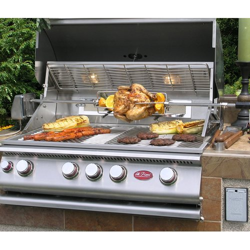 Cal Flame 4-Burner Built In Propane Gas Grill with Cabinet