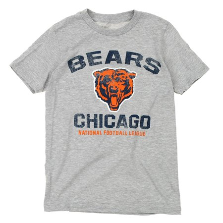 - NFL Youth Chicago Bears Throwback Short Sleeve Tee, Heather Grey