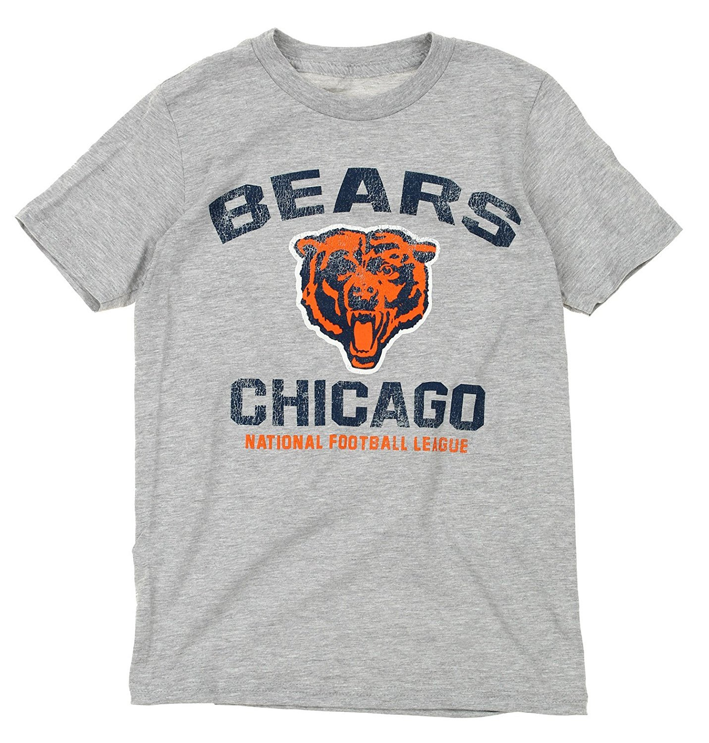 NFL Youth Chicago Bears Throwback Short Sleeve Tee, Heather Grey