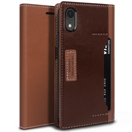Shaft Burgundy Tube Case (OBLIQ, iPhone Xr K3 Wallet Case [Brown /)